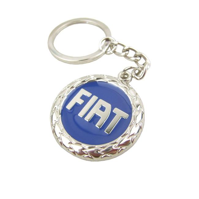 Přívěsek na klíče Fiat - modrý